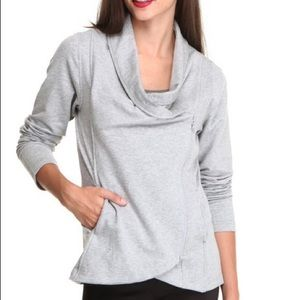 North Face Sharlet Wrap Asymmetrical Zip Sweater